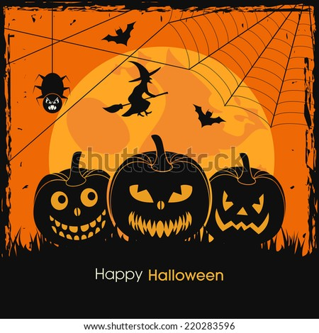 illustration of poster,banner or invitation of Halloween.