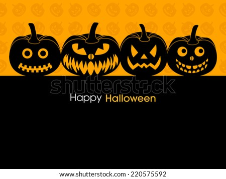 illustration of poster,banner or invitation of Halloween. - stock vector