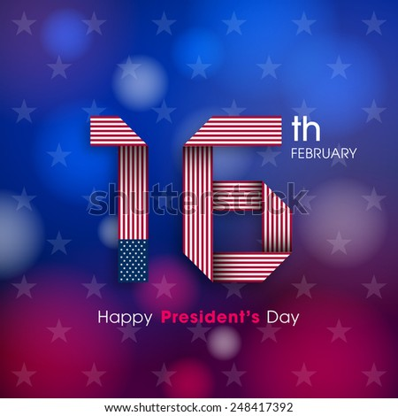 Illustration of President's day of United states of America. - stock vector