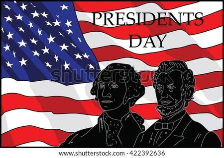 illustration of Presidents Day - stock vector