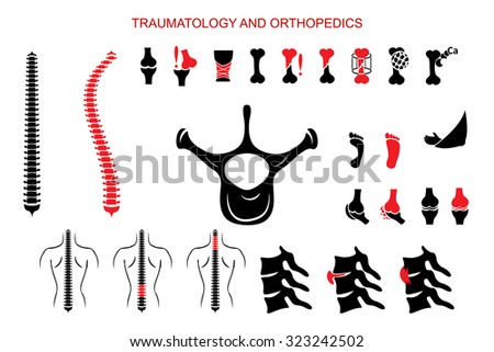 ILLUSTRATION OF PROBLEMS OF THE SKELETAL SYSTEM - stock vector