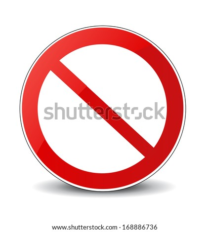 illustration of prohibited sign - stock vector