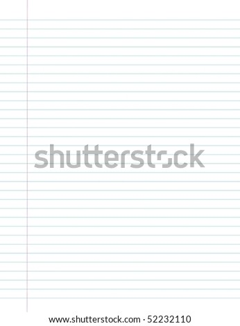 Illustration of pure, school sheet in a line