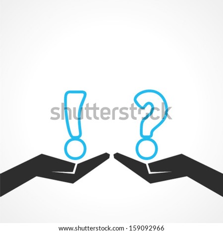 Illustration of question mark and exclamatory symbol - stock vector