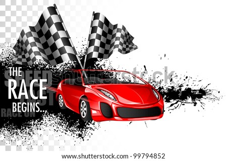 illustration of racing car  Race Track Wallpaper Vector