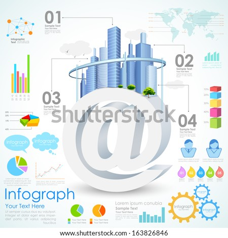 illustration of Real estate Infographic showing housing related information - stock vector