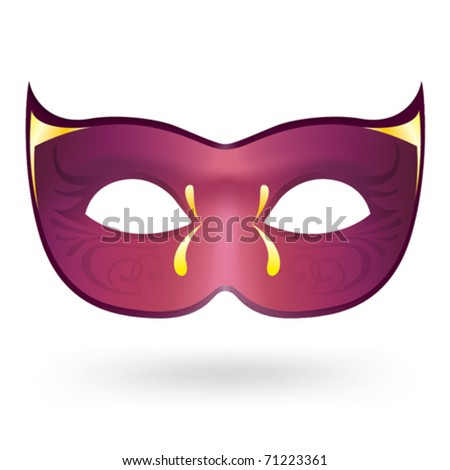 Illustration of realistic carnival mask - stock vector
