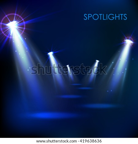 illustration of Realistic Spot Light Effect - stock vector