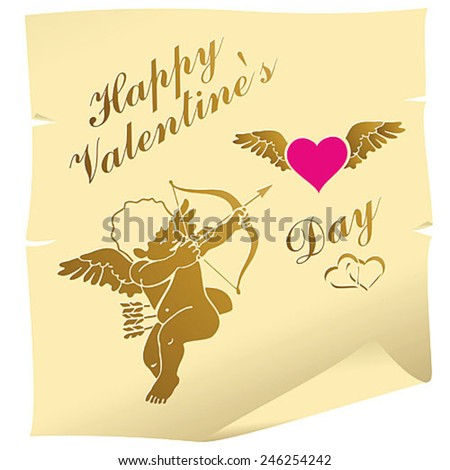 illustration of retro love background for happy valentines day card - stock vector