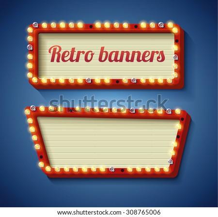 Illustration of Retro vintage banner - stock vector