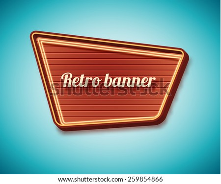 Illustration of Retro vintage sign - stock vector