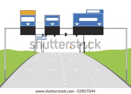 illustration of road - stock vector