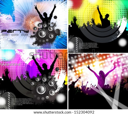 illustration of rock star performing in music concert. Vector - stock vector