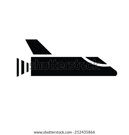 illustration of rocket  vector  - stock vector