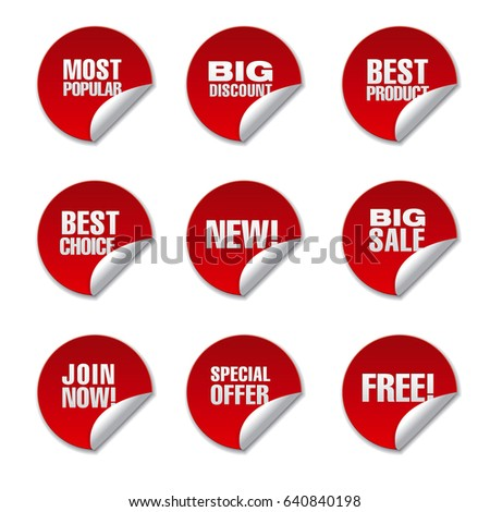 Round Advertising Stickers