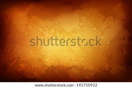 illustration of rusty textured grungy background - stock vector