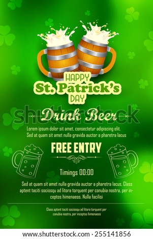 illustration of Saint Patrick's Day background - stock vector