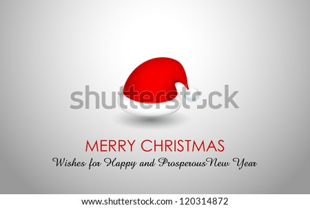 illustration of Santa Cap for Merry Christmas and Happy New Year - stock vector