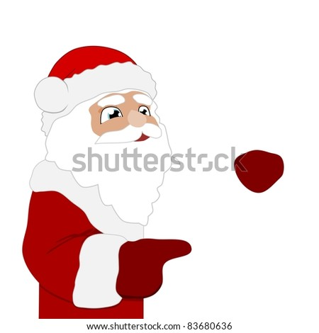 Illustration of Santa Claus with blank space