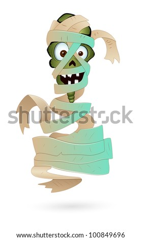 Illustration of Scary Mummy - stock vector
