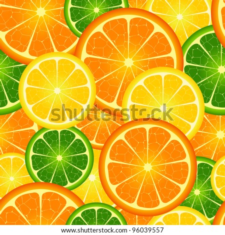 Illustration of  seamless orange  background - stock vector