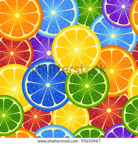 Illustration of  seamless  rainbow orange  background