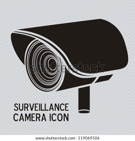 Illustration of security camera, security cameras icons, vector illustration - stock vector