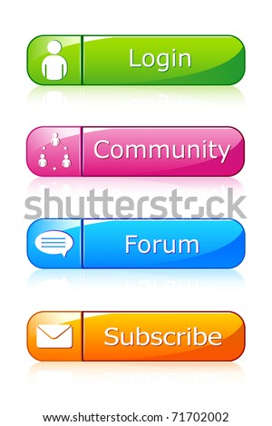 illustration of set of icon for web on isolated background
