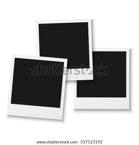 Illustration Set Vintage Photo Frame Isolated Stock Vector 337523192