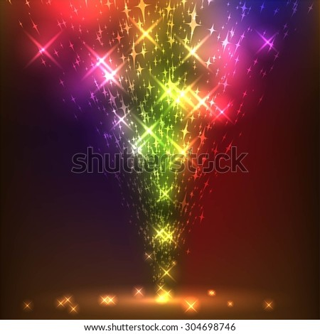 illustration of shining holiday background - stock vector
