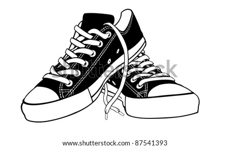 illustration of shoes isolated on white - stock vector