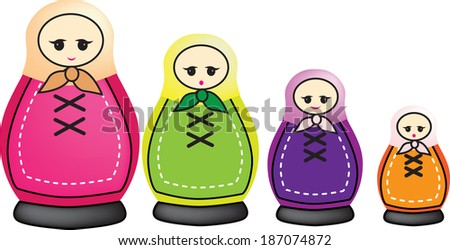 illustration of smaller and smaller russian dolls