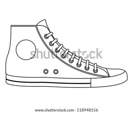 Illustration of sneaker - stock vector