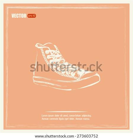 Illustration of sneaker - stock vector