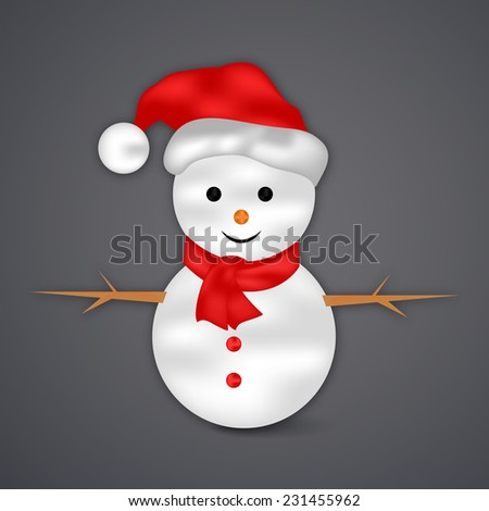 Illustration of Snowman for Christmas