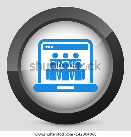 Illustration of Social Network concept icon - stock vector