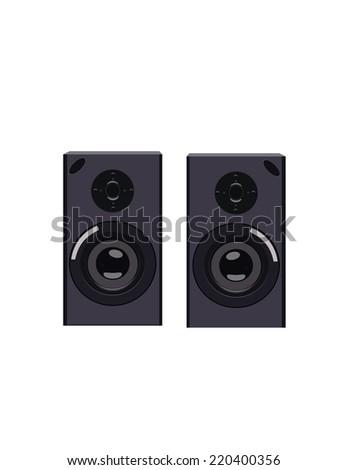 Illustration of speakers, speakers vector - stock vector