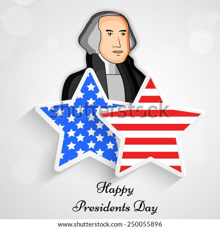 Illustration of Star with American Flag for Presidents Day