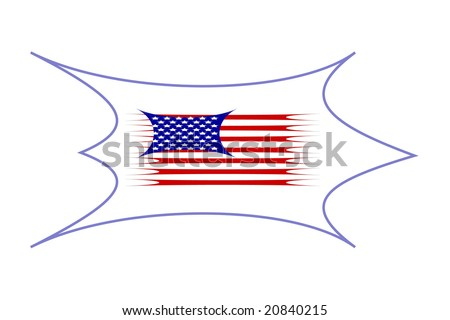 illustration of stars and stripes over animal skin - stock vector