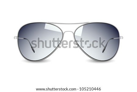 illustration of sun glasses on white background - stock vector