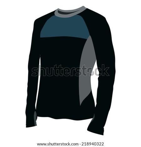 Illustration of  t-shirt,  clothes,  man shirt,  black shirt,  shirt template  - stock vector