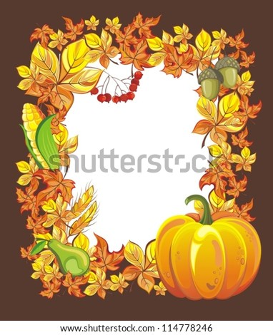Illustration of Thanksgiving celebration banner - stock vector