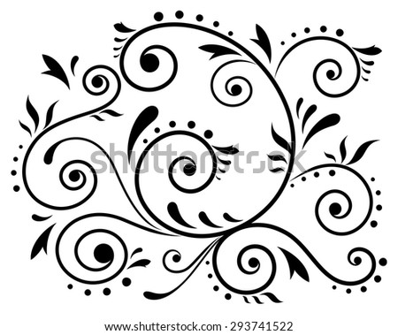 Illustration of the abstract floral element for design - stock vector