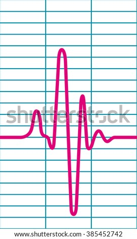 Illustration of the cardiogram icon - stock vector