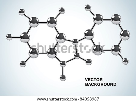 Illustration of the chemical formula consisting of molecules - stock vector