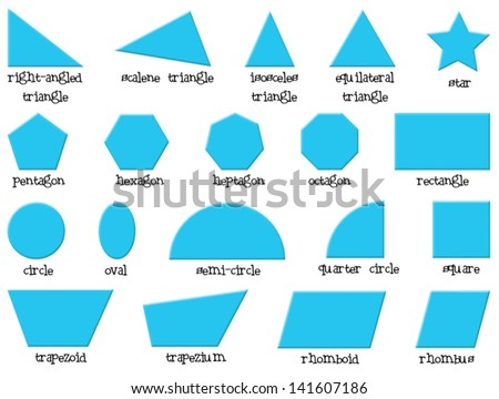 Illustration of the different shapes on a white background - stock vector