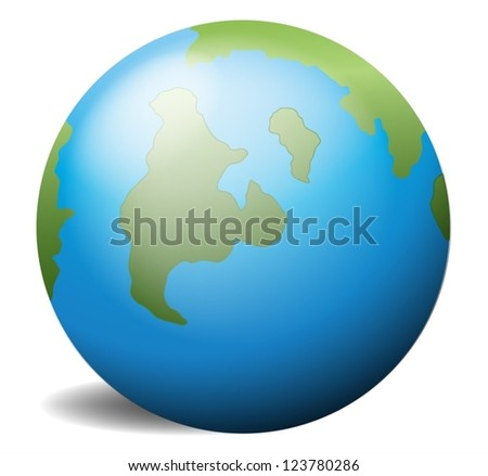 Illustration of the earth on a white background - stock vector