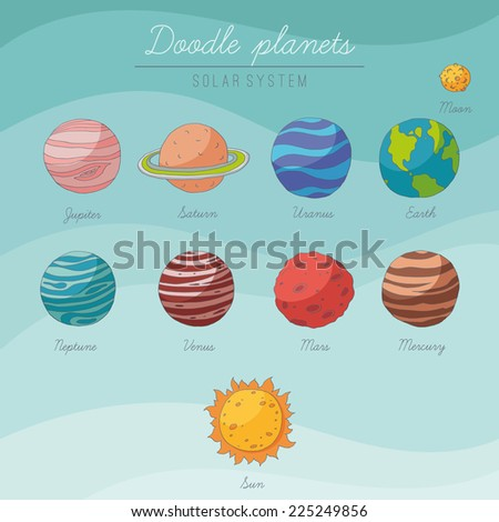Illustration of the Earth with the Moon and clouds. EPS 10. Transparency. Gradients. - stock vector
