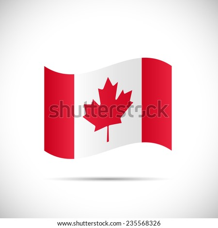 Illustration of the flag of Canada isolated on a white background. - stock vector
