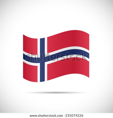 Illustration of the flag of Norway isolated on a white background. - stock vector